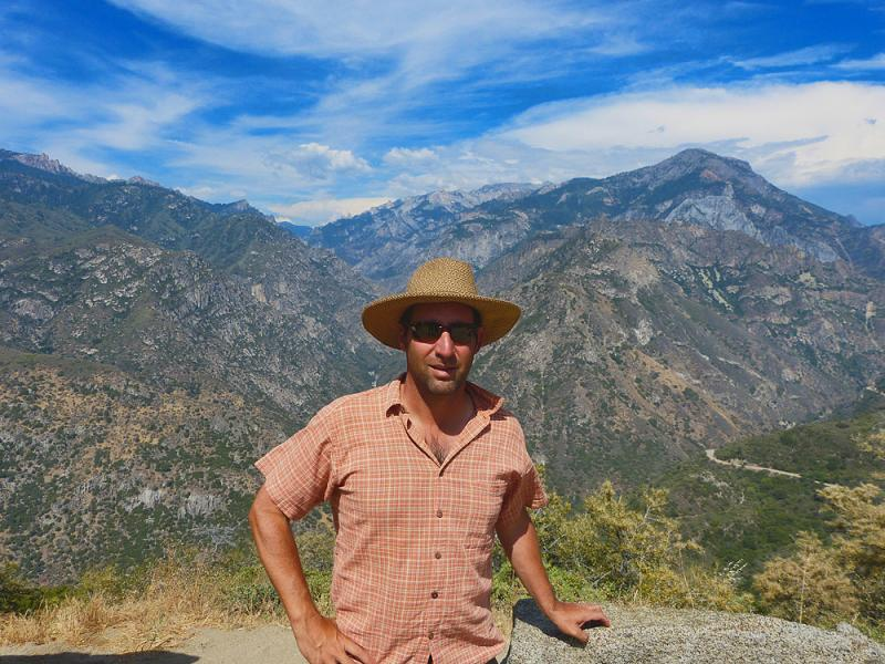 Me... on the road out of Kings Canyon.