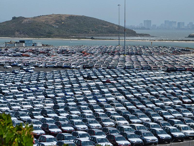 The Sea of Cars at Richmond Point.