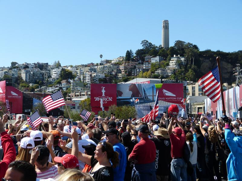 Lots of flag waving. Not really a fan of flag waving.