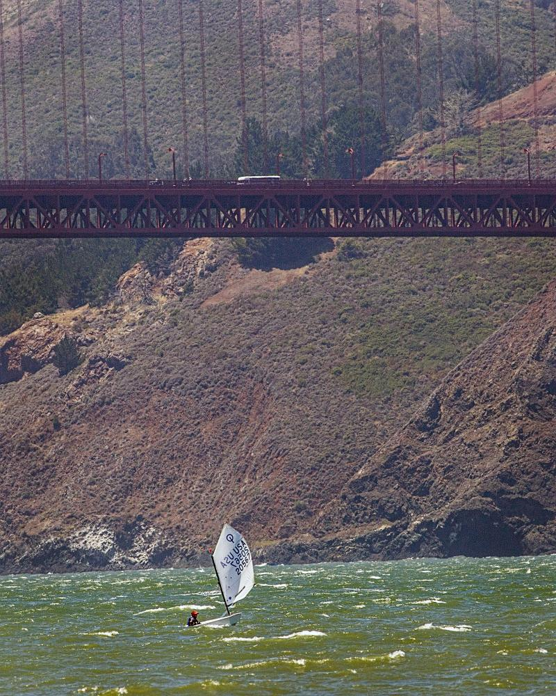 Yes that is my 12-year-old alone in tiny boat out by the Golden Gate.