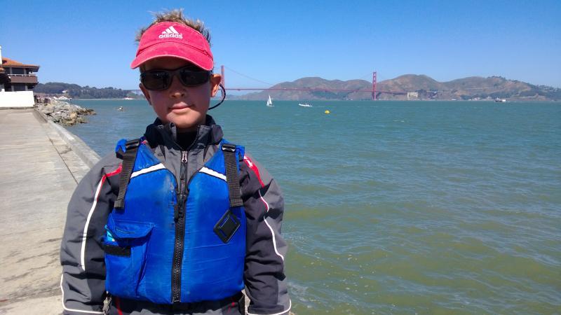 Simon braves his most hairy regatta thus far - St. Francis Heavy Weather Opti Regatta