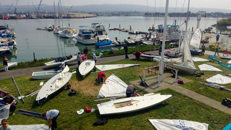 Rigging for Regatta at Encinal Yacht Club