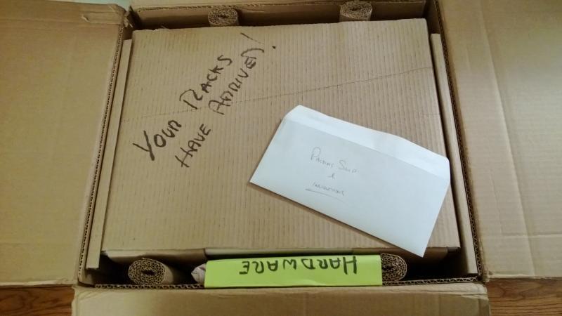 Vinyl shelving kit arrives