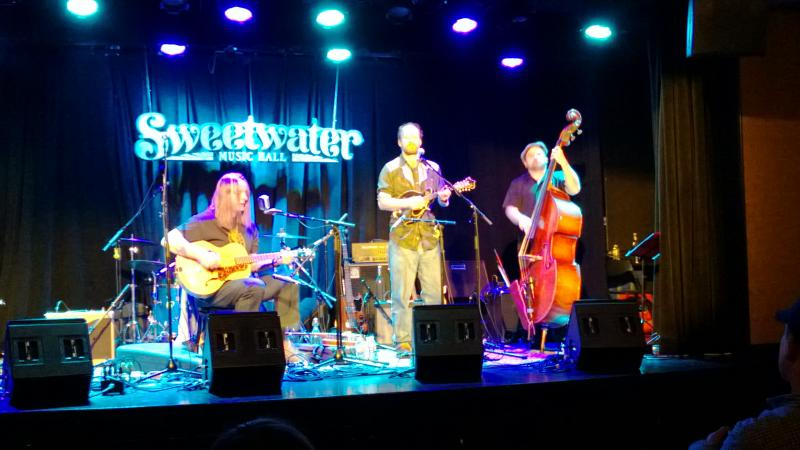 Danny Barnes, Matt Sircely, and friend at the Sweetwater, Mill Valley.