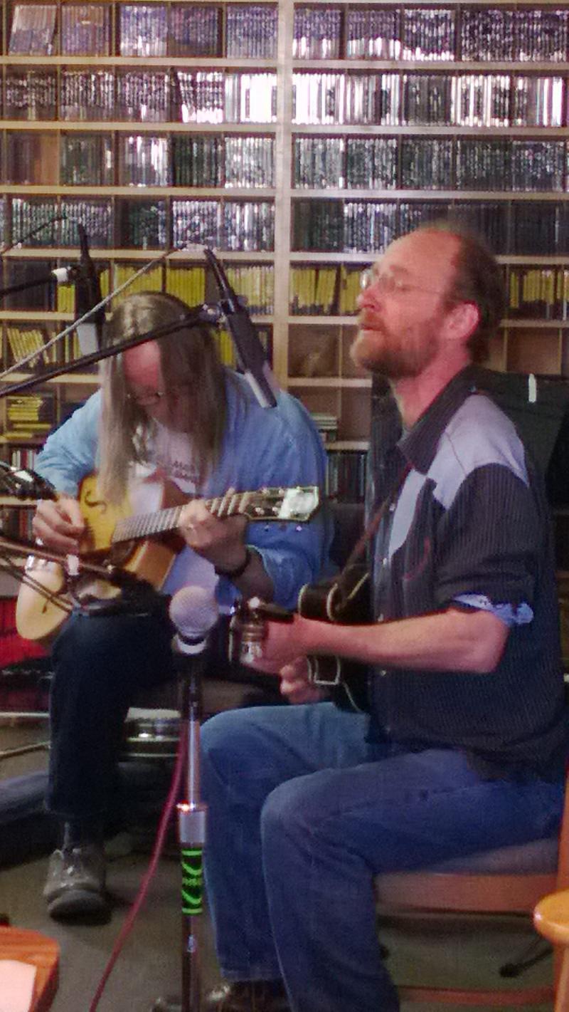 Barnes and Matt at KPIG in Santa Cruz