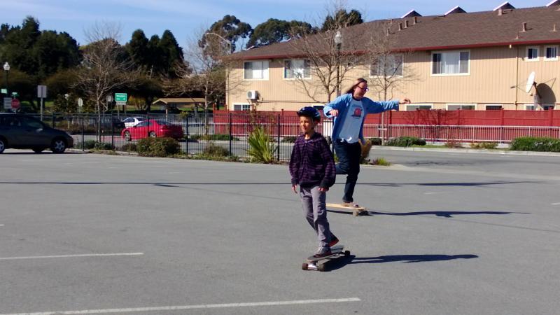 Post radio show skate in KPIG's parking lot.