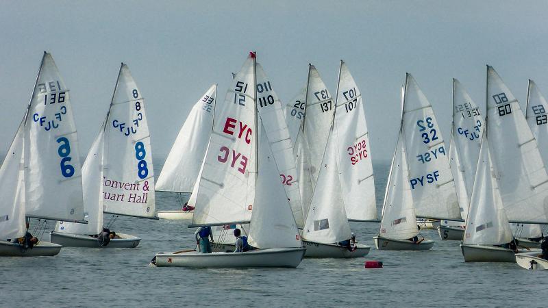 High school sailing at RYC