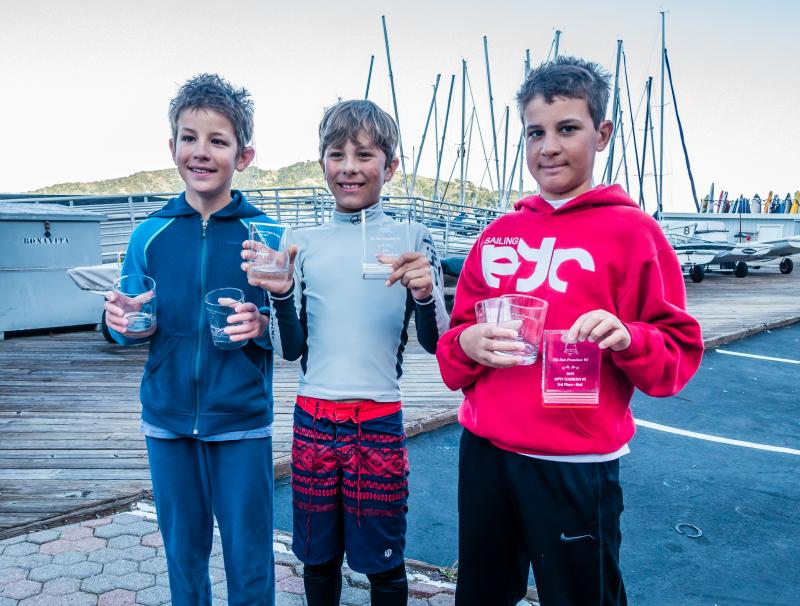 Henry, Dylan, and Simon all won their fleets for Winter BAYS