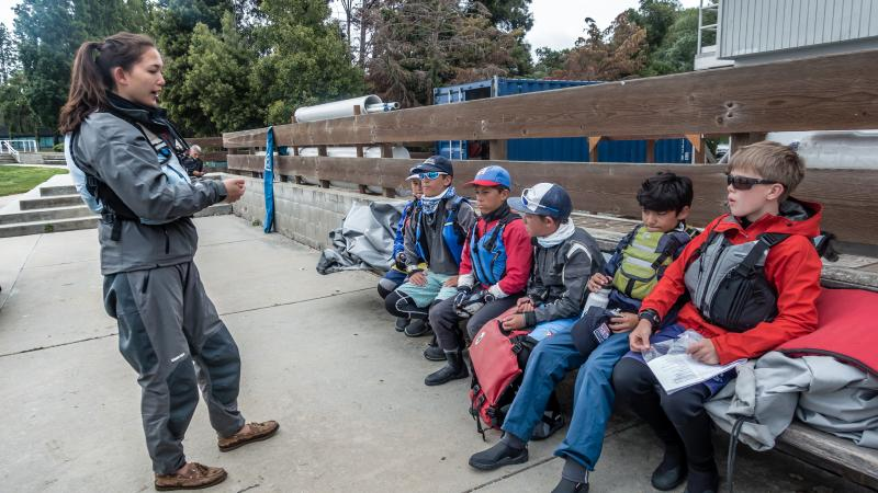 Coach Maya at PYSF - Redwood City regatta