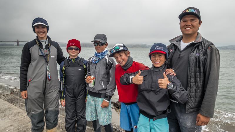 EYC gang at the Opti Heavy Weather Regatta - St. Francis YC