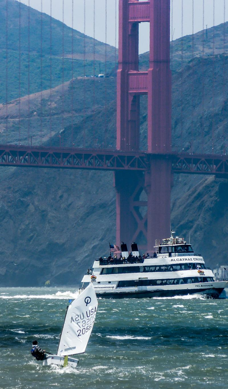 Upwind to the golden gate