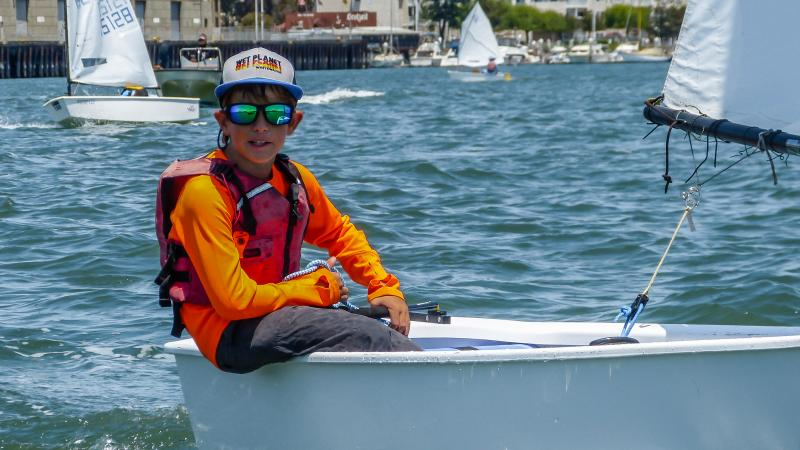 Hank smiling - his best regatta to date.
