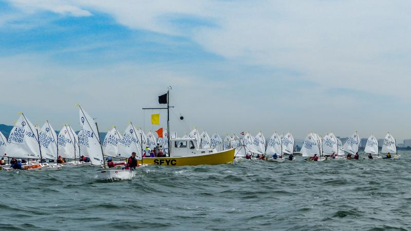 Optis lined up at the start