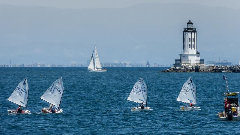 Opti racing at Cabrillo, San Pedro