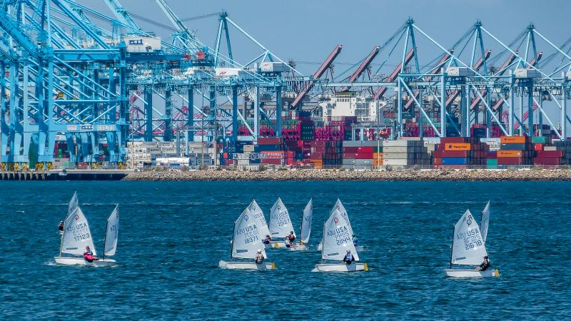 Port of Los Angeles backdrop