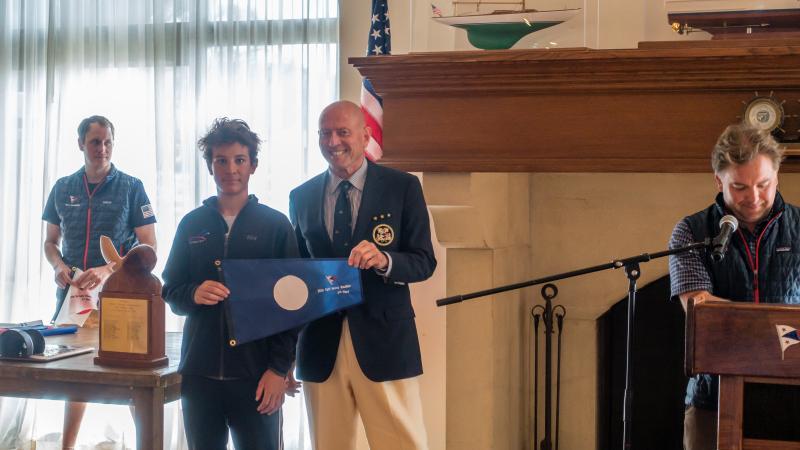 Simon getting award from Kimball Livingston