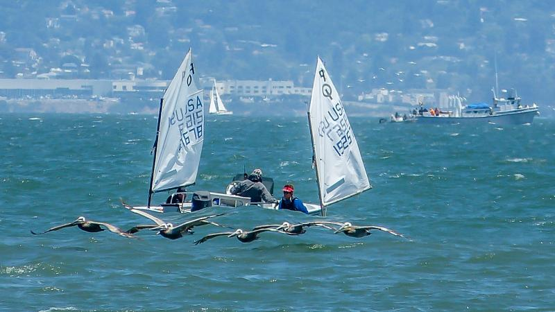 Boeger Brothers racing upwind