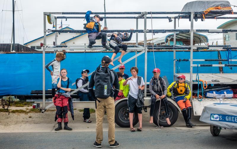 SFYC opti team at Half Moon Bay