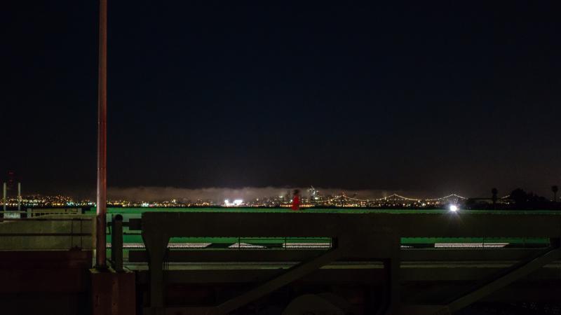 Alameda bridges at night