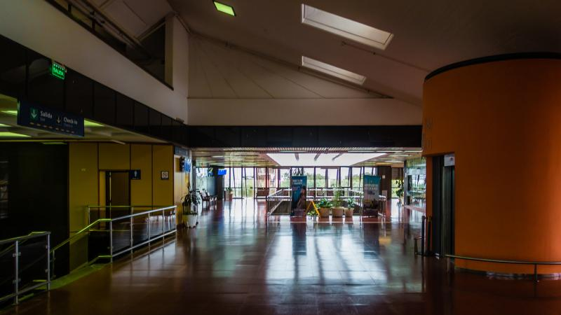 Posadas airport... heading back to Buenos Aires while kids stay to sail.