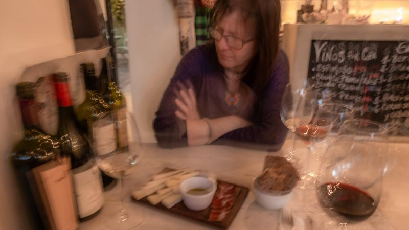 Wine and cheese tasting in Soho.