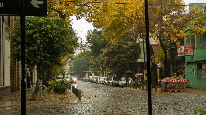 Rainy day in Soho neighborhood of Palermo.