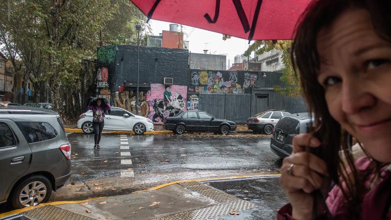 Rainy day in Soho.