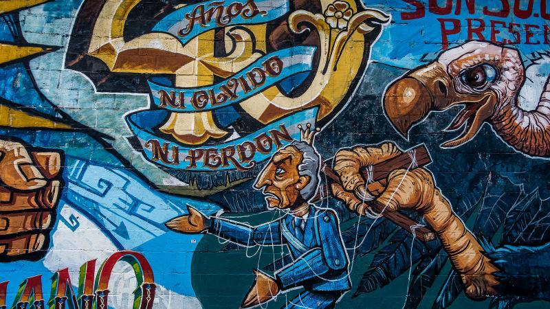 Political graffiti in Monserrat.