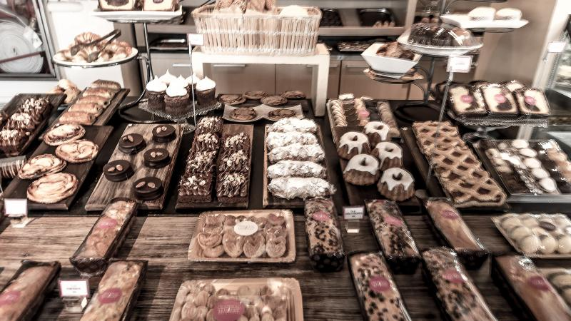 Baked treats in Puerto Madero area.
