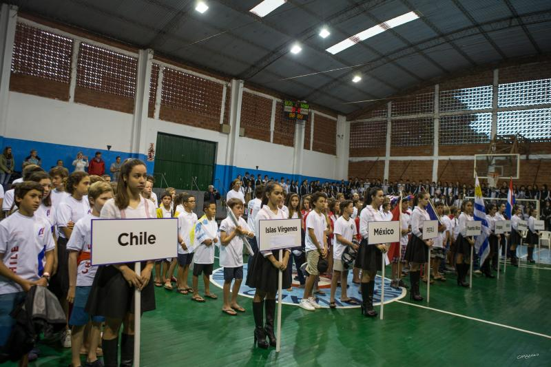 Opening ceremonies at the local high school in Encarnacion, Paraguay.
