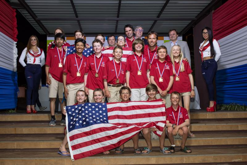 Team USA at closing ceremonies.