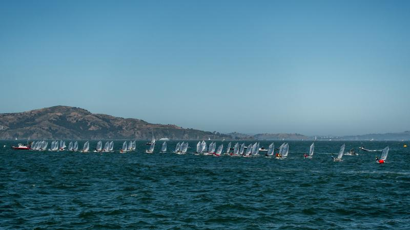 The Opti NorCal starting line