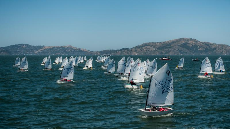 Opti fleet on the last race.