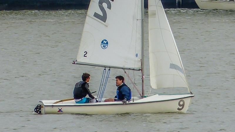 Simon and Jonathan Andrews sailing for Alameda High School