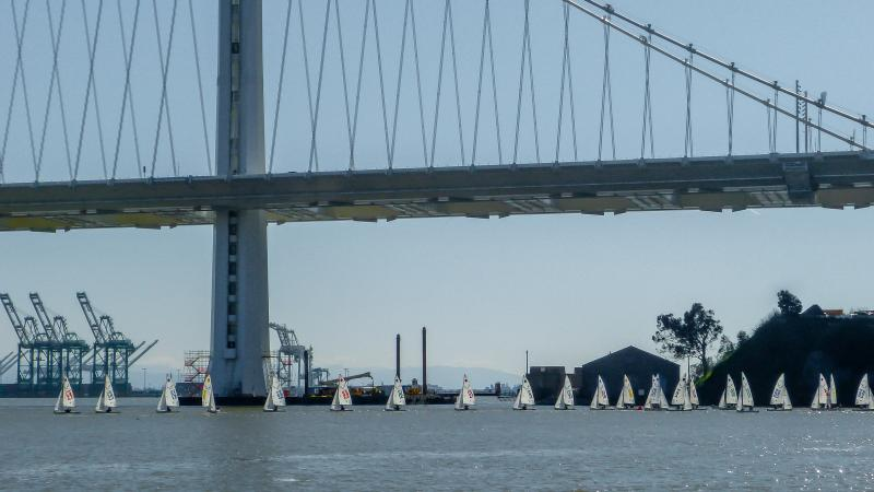New span of the Bay Bridge. See regatta pics from previous years for earlier progress.