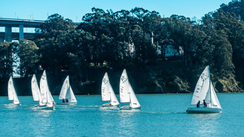 Henry and Simon racing together in NorCal CFJ regatta