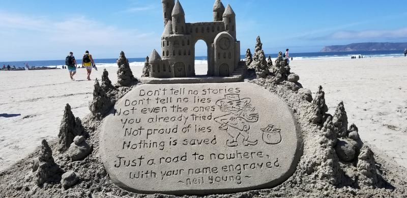 Message from Neil On The Beach
