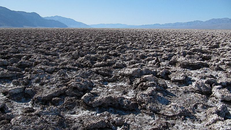 Devil's Golf Course in Death Valley.