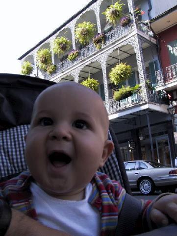 Simon cruising the French Quarter