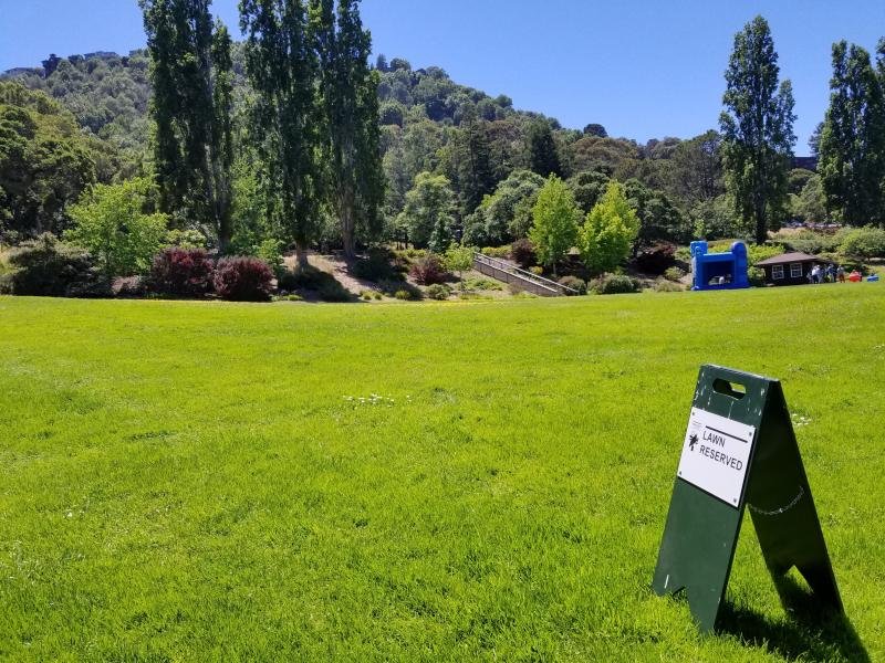 Keep off the Grass at Tiburon park
