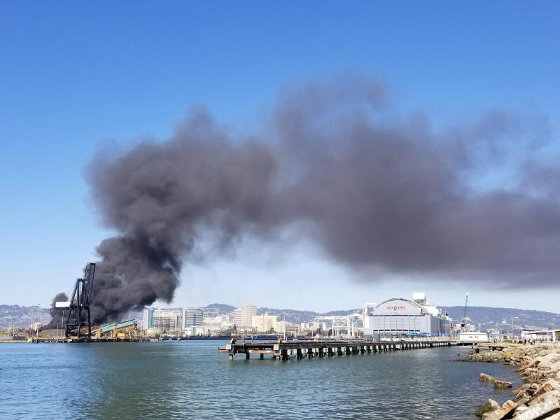 Fire at the Port of Oakland