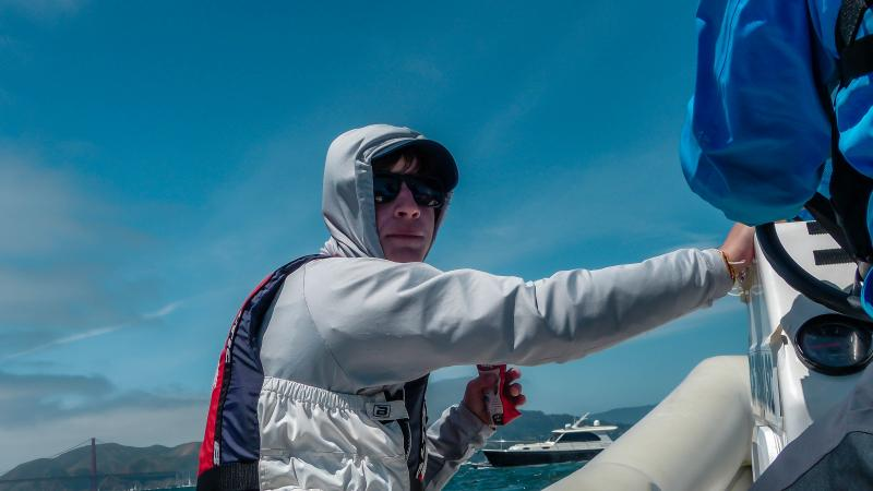 Hank. We are watching Sail GP on SF Bay from our rib.