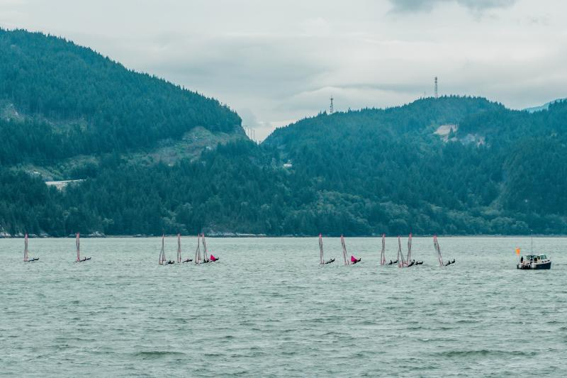 29'ers lined up on Howe Sound