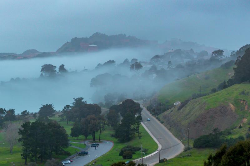 Fog rolls into Richmond Point