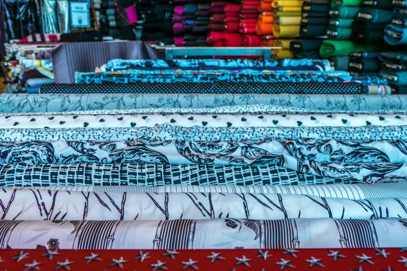 Fabrics at Britex in SF
