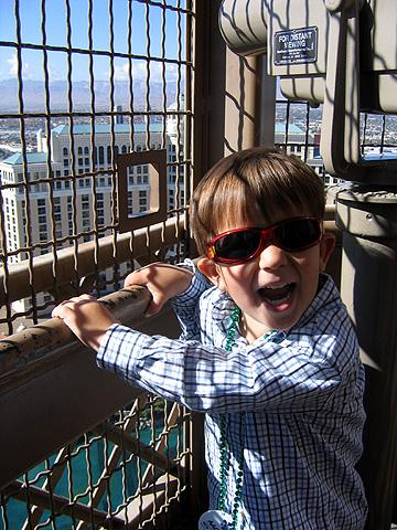 "Henry atop the ""Eiffel Tower"", Las Vegas"