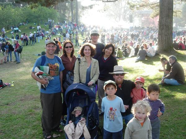 Group picture at Hardly Strictly 6.