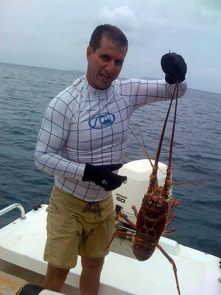 """Kirk """"Aquaman"""" Boeger terrorizes the local lobster population"""