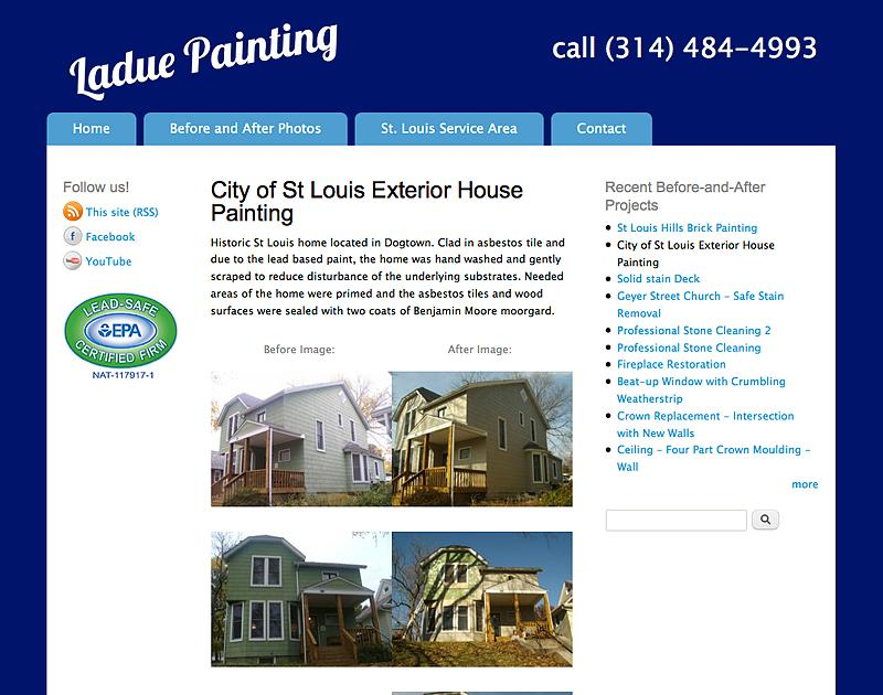Ladue Painting - optimized for small business