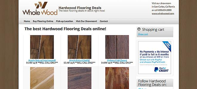 Hardwood Flooring Deals - Drupal e-commerce website